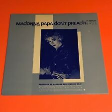 MADONNA PAPA DONT PREACH US 12 PROMO ONLY SLEEVE  RARE 1986