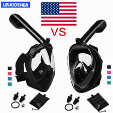 180° Full Face Mask Swimming Breath Dry Diving Goggle Snorkel Scuba Mask Water