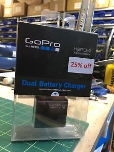 GoPro Dual Battery Charger and Battery for GoPro Camera - Black