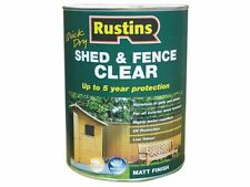 Rustins Quick Dry Shed and Fence Clear Protector 5 Litre Rusecwp5l