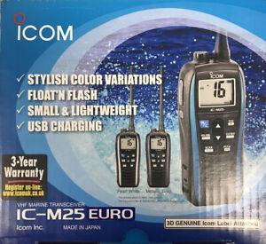 Icom ICM25 Waterproof Handheld VHF Radio - New In Box