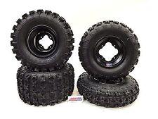 "DWT Polished Rear Wheels Rims 9/"" 9x9 4//115 Yamaha Raptor 700//660 YFZ450 Banshee"