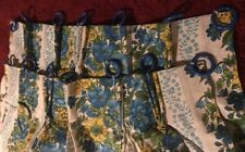 Vintage BARCLOTH Floral Curtains Set Of 4 Panels And 4 Valences
