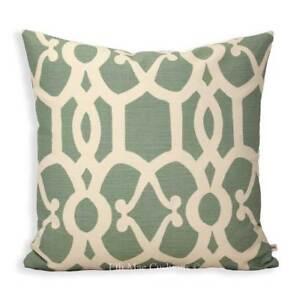 GP & J Baker Threads Zenith Luxury Designer Geometric Blue Cushion Pillow Cover
