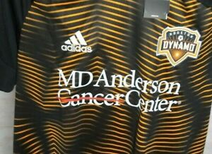 Adidas Houston Dynamo MD Anderson Cancer Center Large Black Shirt/Carrying Bag