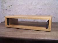 "2U 19"" Solid Oak Wood Rack Pod Case Wooden Studio Furniture Cabinet"