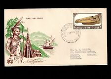 Papua & New Guinea Port Moresby 1st Day 1965 1+2 Australian Pounds Cover 5l
