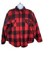 Vintage Woolrich Men's Red Black Buffalo Plaid Wool Flannel Shirt Size 3XL USA