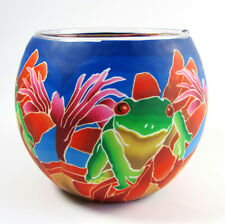 Frog Glowing Glass Tea-light Candle Holder