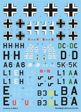 JUNKERS JU-88A-4/5 (EASTERN FRONT & AFRICAN THEATRE) #72111 1/72 TECHMOD DECALS