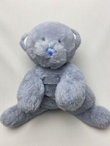 """Baby Ganz Blue Plush Butter Bear Stuffed Animal Toy 10"""" Teddy BG4098"""