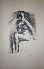 Maurice Asselin Lithographie signée la Bretagne l'Italie L'Angleterre le nu