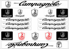 Campagnolo Bike Bicycle Frame Decals Stickers Graphic Adhesive Set Vinyl Black