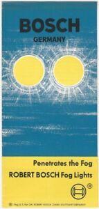1960s Robert Bosch Automobile Fog Lights Illustrated Brochure