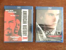 American Psycho + American History X (2 Blu-Rays) Christian Bale, Ed Norton New!