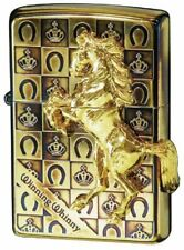 Zippo Winning Whinny Grand Crown Horse Oxidized Gold Plating Japan Limited F/S
