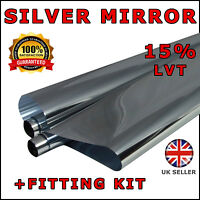 WINDOW TINT FILM TINTING SILVER CHROME REFLECTIVE ONE WAY 2 x 3m Roll 76cm x 6M