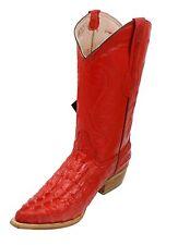 Men Genuine Leather Cowboy Western Crocodile/Ostrich Print Quality Boots Colors