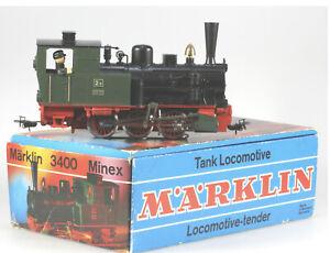 Märklin Minex #3400 On30 Steam Tank Locomotive 0-6-0, EX/BX, 1970 to 1972