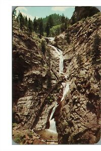 Seven Falls Postcard: PM Royal Gorge CO 1958 F/1 4-Bar 1957 Jefferson 2C Coil