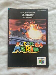 SUPER MARIO 64 Nintendo 64 N64 PAL version original manual