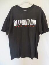 Vtg Diamond Rio Fan Club T Shirt AUTOGRAPHED Black Size XL (46-48)  #7738