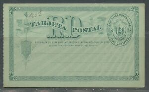 DOMINICAN REPUBLIC 2C UPU GREEN MINT POSTAL STATIONERY DOUBLE CARD AS SHOWN