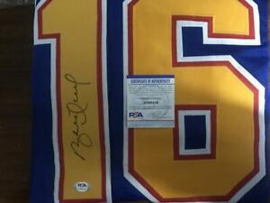 Brett Hull St Louis Blues Hockey Jersey - PSA/DNA Auto Autograph COA