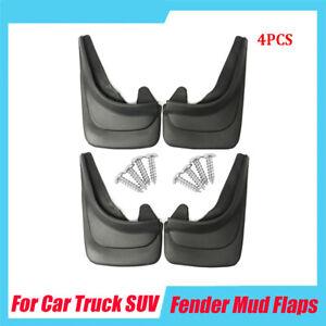 4Pcs Car Front Rear Mud Flaps Splash Guards Mudflaps Fender Black ABS Plastic