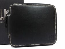 Authentic Dunhill Leather Zippy Zip Around Billfold Card Holder Wallet C1292