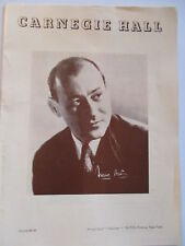 Carnegie Hall 1953 Program Franco Autori Wagner Mozart Great Ads