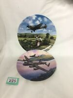 Royal Doulton Heroes Of The Sky Spitfire & Royal Worcester Low Over The Lake