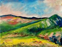 Mountains Hills California IMPRESSIONIST Oil Painting canvas Modern Landscape