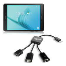 kwmobile 3in1 Micro USB Hub Adapter für Samsung Galaxy Tab A 9.7 T550N T555N SD