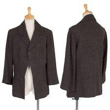 (SALE) Yohji Yamamoto FEMME wool linen open 1B jacket Size M(K-23176)