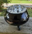Viking-black glass flowerlite-with insert