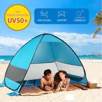 Strandmuschel Pop Up Strandzelt Sonnenschutz Windschutz Zelt Sichtschutz Groβe