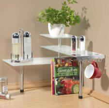 Küchen Eckregal  Glas stoßfest mit Haken