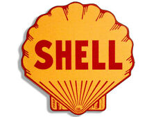 4x4 inch Vintage SHELL Logo Shaped Sticker - gas sign rat rod motor car gasoline