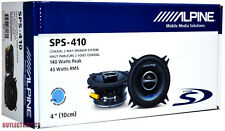 "Alpine SPS-410 4"" Car Speakers/ 4-Inch Car Audio Speaker Type S Series 2-Way"