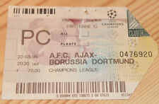 old TICKET CL Ajax Amsterdam Holland Borussia Dortmund Germany