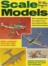 Scale Models Oct 1972 MG Midget Plans - French Escadrille Markings - BMW Sidecar