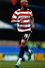 Doncaster Rovers F.C El-Hadji Diouf Hand Signed 11/12 Photo 12x8 1.