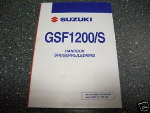 Fahrerhandbuch Handbok Brugervejledning Suzuki GSF 1200 / S K5