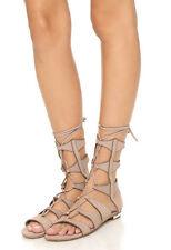SCHUTZ Samena Gladiator Sandals New w/Box Neutral Taupe Nubuck Leather Sz 10 B