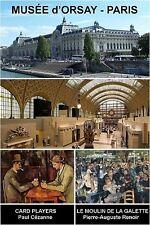 MUSEUM SOUVENIR FRIDGE MAGNET - MUSEE D'ORSAY PARIS & CEZANNE & RENOIR