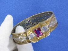 Beautiful Art Deco Rhodium Filigree Bracelet (BR522)