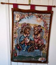 Boyds Bears Afternoon Tea Wall Hanging Tapestry 26 x 36