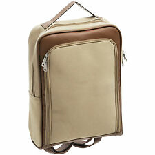 TRAVEL CANVAS LAPTOP RUCKSACK / BAG WITH HANDLE & STRAPS COMPARTMENTS