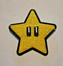 "US SELLER!!!  SUPER STAR  ~IRON ON PATCH~  2.0"" x 2.25"" PATCH  ~SUPER MARIO~ NEW"